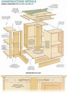 Revolving Bookcase Plans • WoodArchivist