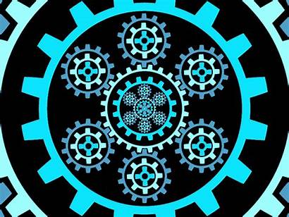 Mechanical Infinity Gears Spinning Dribbble Animation 2d
