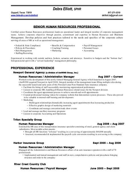 Insurance broker job description sample. Resume of debra elliott ss '12