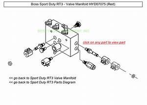 Boss Sport Duty Rt3 Valve Manifold Hyd07075 Snow Plow