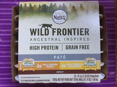 nutro wild pate frontier cat food cats