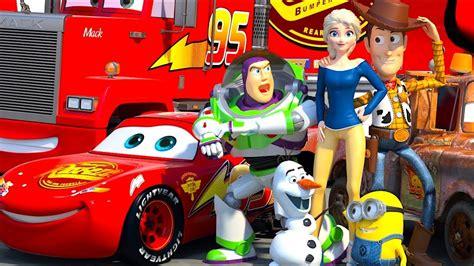 Disney Pixar Cars Meet Toy Story Lightning Mcqueen Buzz