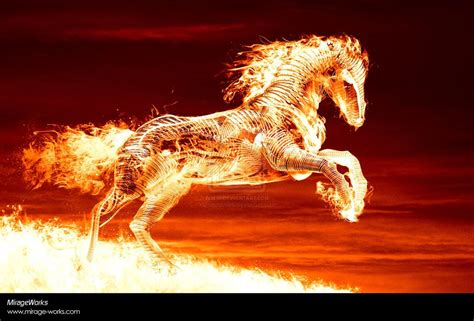Cool Fire Horse Wallpaper, Widescreen