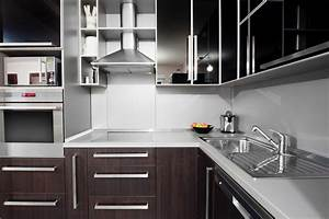 Cocina, Moderna, En, Tonos, Blancos, Y, Wengu, U00e9, Fotos, Para, Que