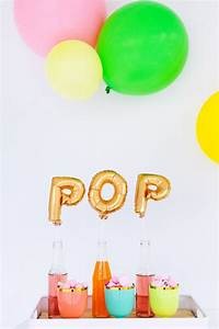 pop use mini letter balloons as drink stirrers p a r t With mini letter balloons
