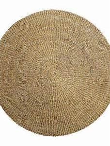 Tapis Rond Osier : tapis rond jonc de mer palissade bois design ~ Teatrodelosmanantiales.com Idées de Décoration