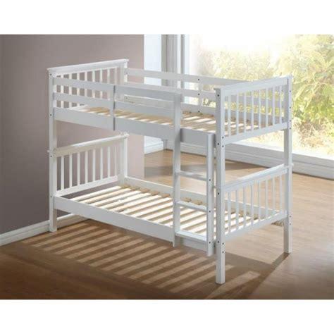 bunk beds artisan white wooden bunk bed frame children bunk bed