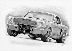 Mustang Drawings- Amazing Mustang Drawings by Alan B ...