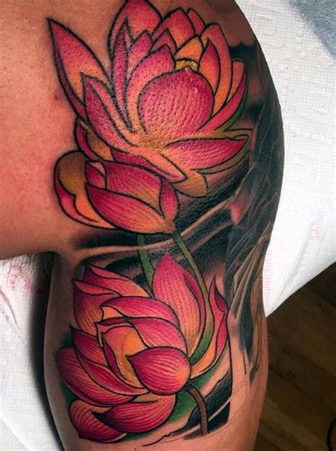 100 Lotus Flower Tattoo Designs For Men - Cool Ink Ideas