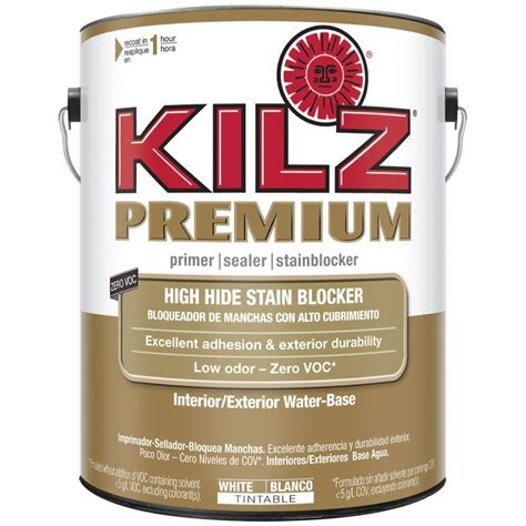 outdoor primer paint kilz premium 1 gal white water based interior exterior