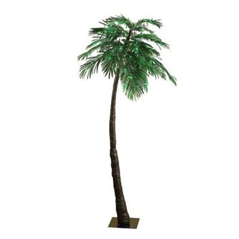 7 ft led lighted green palm tree 92415016 the home depot