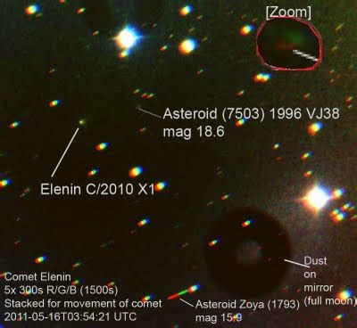 "AstroSwanny's AARTScope Blog: Comet Elenin in ""oncoming ..."