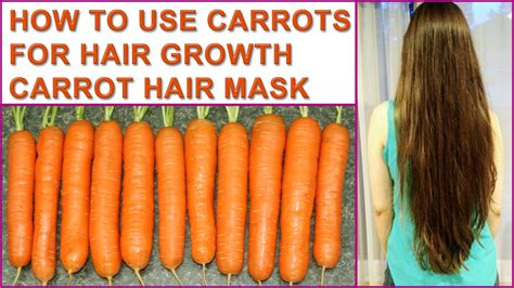 How To Use Carrots For Hair Growth  Carrot Hair Mask Youtube