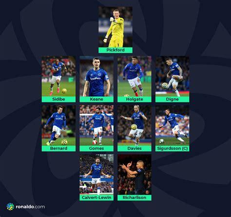 Predicted XI - Everton vs Liverpool - ronaldo.com