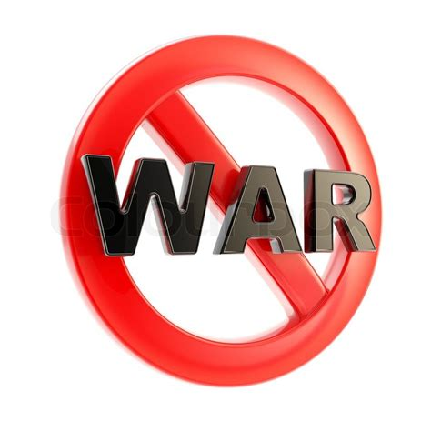 war forbidden glossy sign isolated  white stock