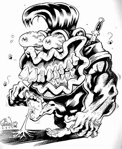 Rat Fink Monster Weird Drawing Kustom Drawings