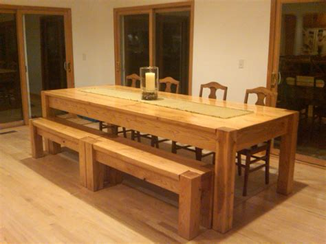 large wood dining table with bench homemade oversized kitchen table with long bench and four