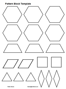 Everyday Math Pattern Block Template by Pattern Block Templates Cyberuse