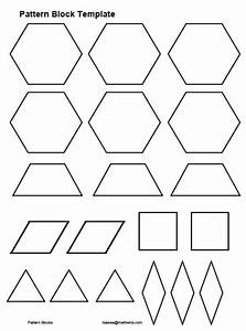 pattern block templates cyberuse With everyday math pattern block template