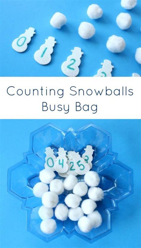 counting snowballs winter math activity fantastic 701 | Counting Snowballs Busy BagPreschool and Kindergarten Winter Math Activity 585x1024