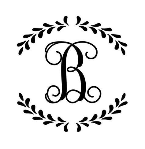 vine font  initial small monogram decal single letter etsy monogram stencil monogram