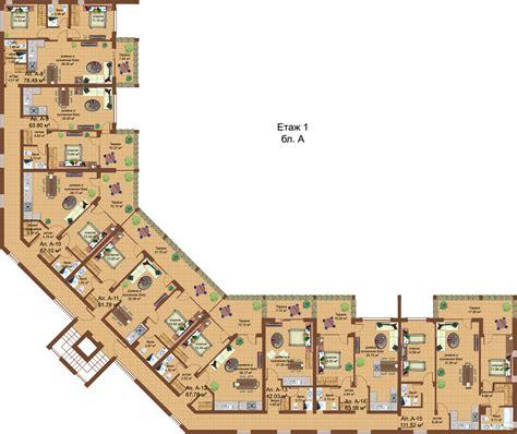floor plans of apartment complex sozopoli in sozopol