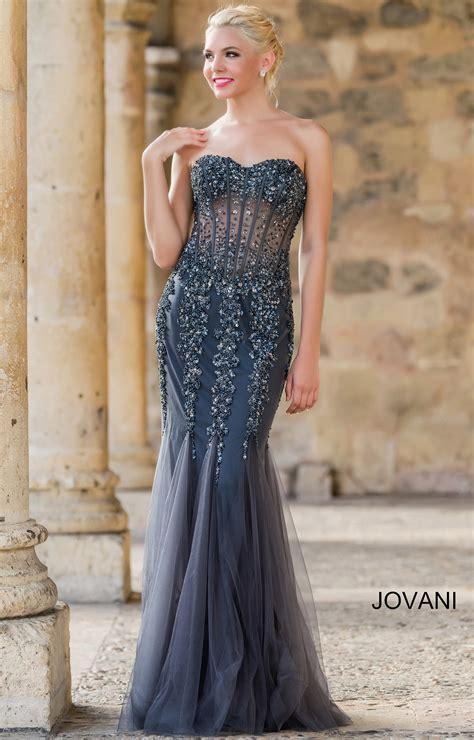 jovani  crystal sweetheart strapless mermaid dress