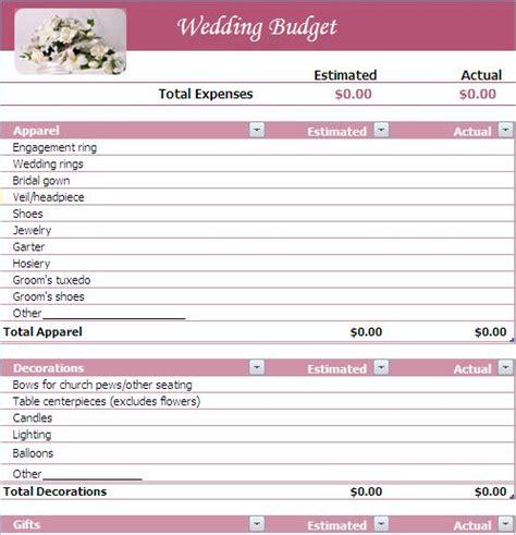 Wedding Budget  Wedding Budget List A2zweddingcards
