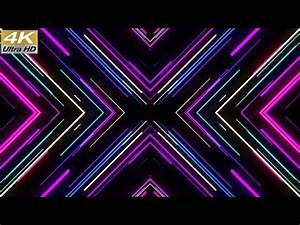 Motion Graphic Background VJ Neon Lights X Tunnel Footage