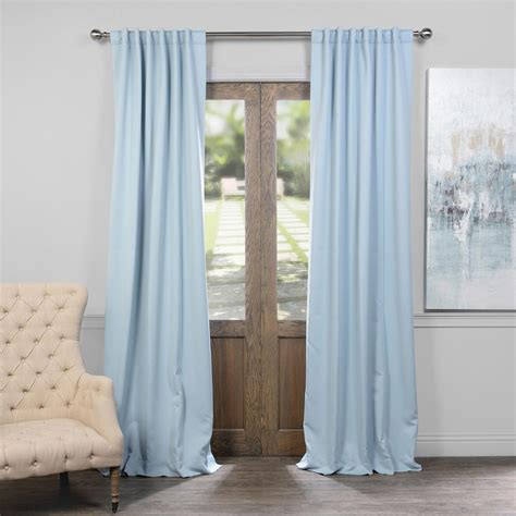 108 inch blackout drapes frosted blue 50 x 108 inch blackout curtain half price