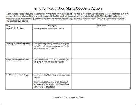 Dbt Skills Worksheets  Kidz Activities