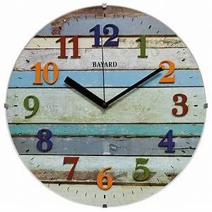 Horloge Murale Silencieuse : pendule murale silencieuse bayard western en verre ~ Melissatoandfro.com Idées de Décoration
