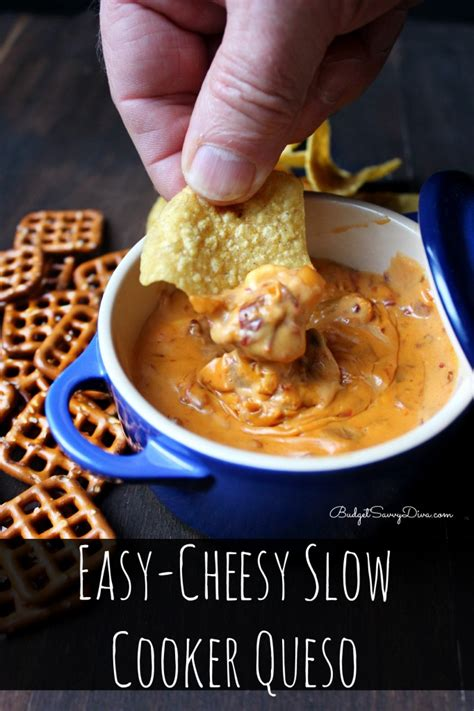 easy cooker recipe easy cheesy slow cooker queso recipe