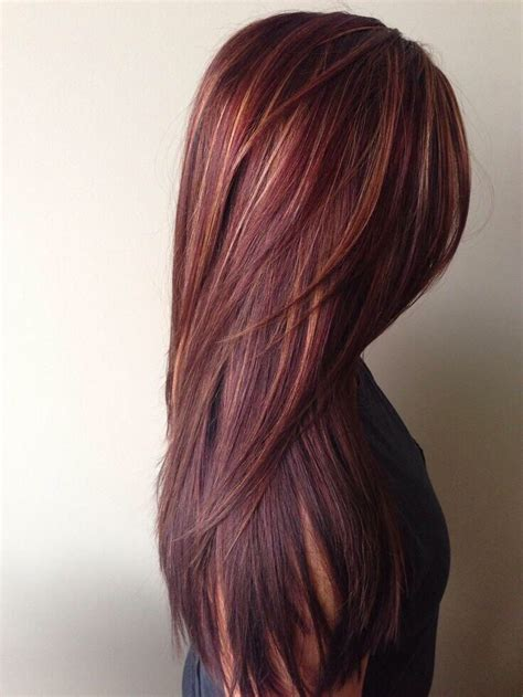 Red Brown Hair With Highlights Want Hair Style Color