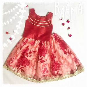 Red floral lehenga choli for baby girl from Baana Happy