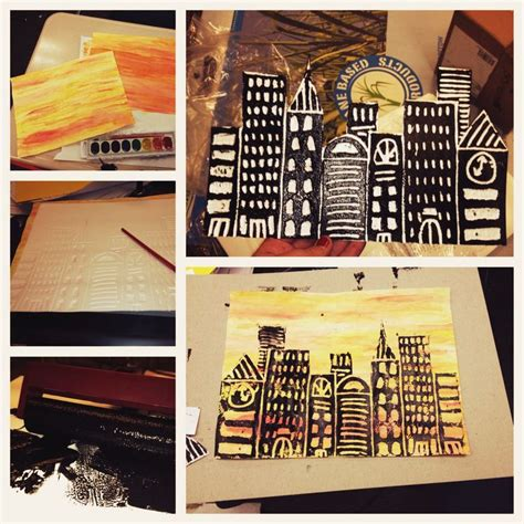 248 Best Art Lessonsprintmaking Images On Pinterest  Art Projects, Art Education Lessons And
