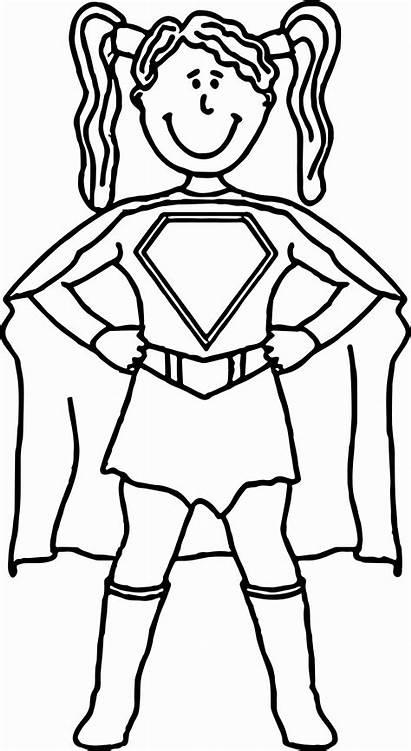 Superhero Coloring Pages Superheroes Cartoon Female Super