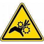 Label Iso Pinch Point Hazard Hand Warning