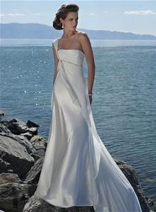 ivory romantic one shoulder beaded beach destination With destination beach wedding dresses