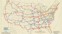 A Map Of The First Proposed U.S. Highway Network