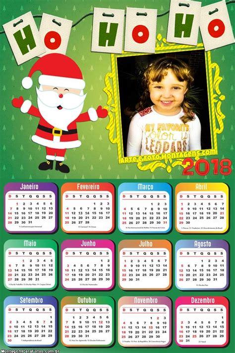 calendario ho ho ho cut papai noel montagem fotos