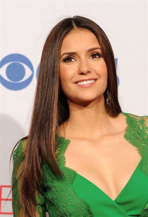 nina dobrev long sleek hairstyles  hairstyles weekly
