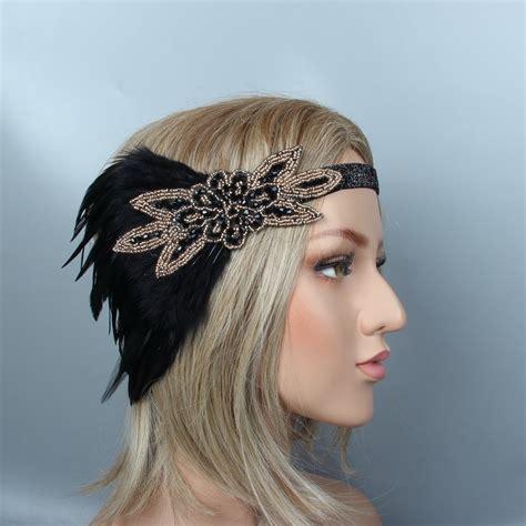 1920s Headband White Feather Vintage Bridal Great Gatsby ...