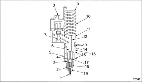 Electronic Fuel Injector Diagram by Series 60 Electronic Unit Injector Diagram Detroit