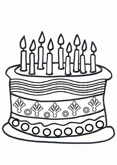 Cake Coloring Pages Birthday Printable Cupcake Getcolorings