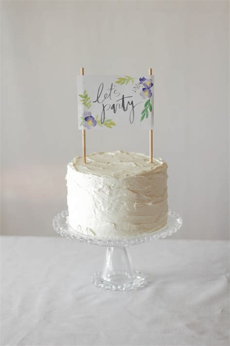 printable floral cake topper lets mingle blog