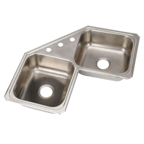 stainless steel corner sink elkay avado undermount stainless steel 32 in double bowl