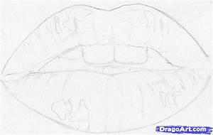 How to Draw Real Lips, Step by Step, Realistic, Drawing ...