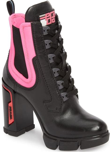 prada hiking style colorblock ankle boots  whiterosa