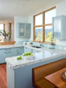blue countertop kitchen ideas 30 colorful kitchen design ideas from hgtv kitchen ideas design with cabinets islands
